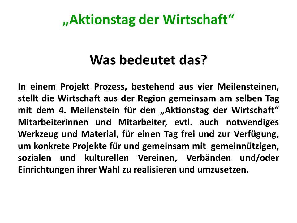Unterlagen der Planetvalue gemeinnützige GmbH A.Initiierung Aktionstag der Wirtschaft B.