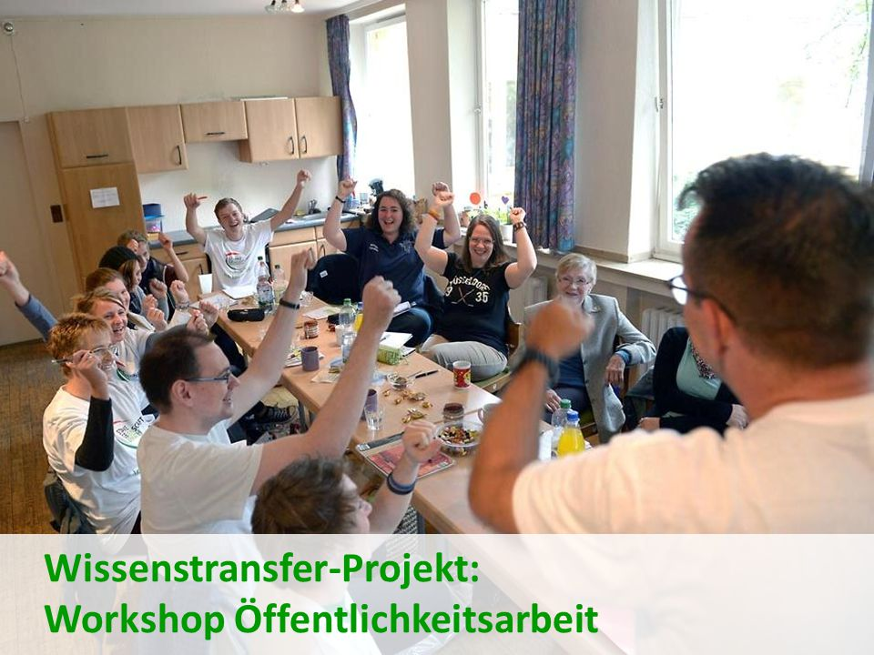 Wissenstransfer-Projekt: Workshop Öffentlichkeitsarbeit