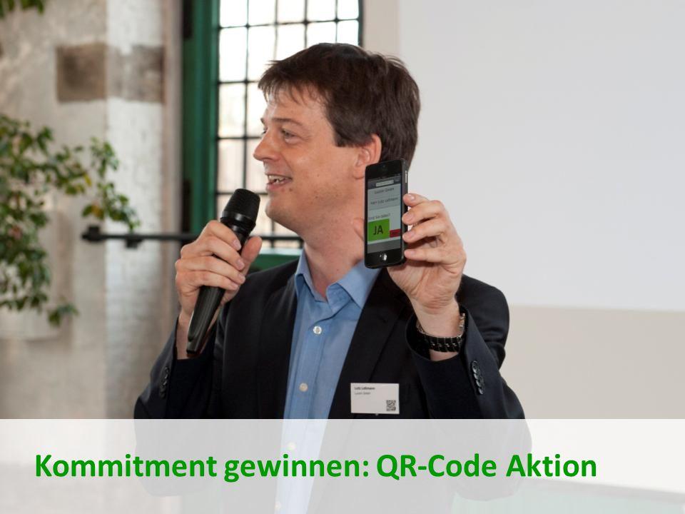 Kommitment gewinnen: QR-Code Aktion