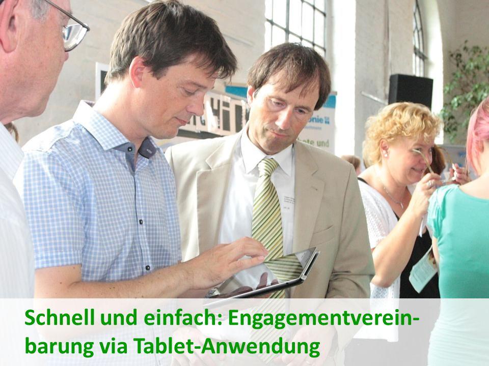 Schnell und einfach: Engagementverein- barung via Tablet-Anwendung