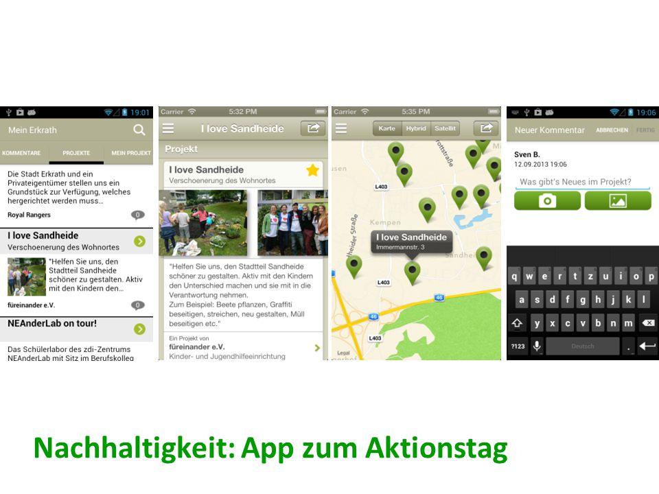 Nachhaltigkeit: App zum Aktionstag