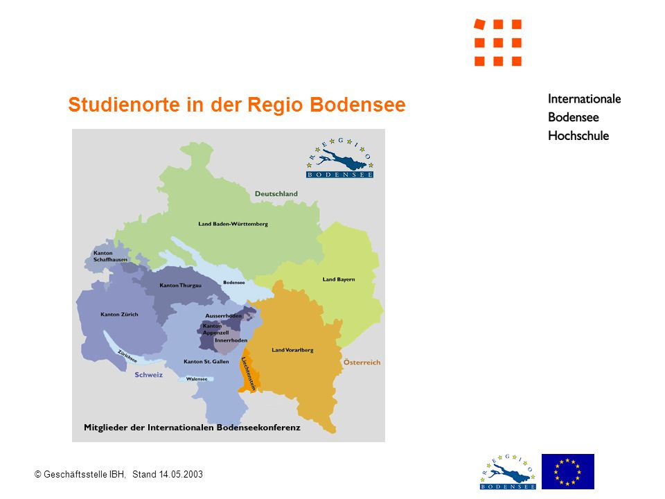 © Geschäftsstelle IBH, Stand 14.05.2003 Mitglieder des Kooperationsverbundes