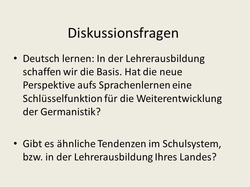 Diskussionsfragen Deutsch lernen: In der Lehrerausbildung schaffen wir die Basis.