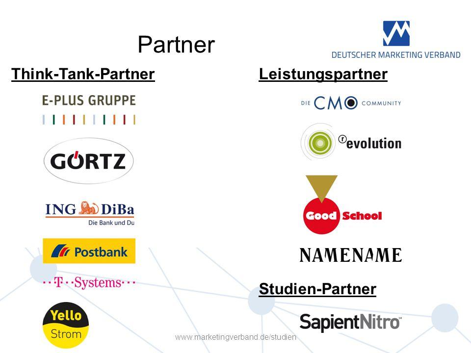 Partner Think-Tank-PartnerLeistungspartner Studien-Partner www.marketingverband.de/studien