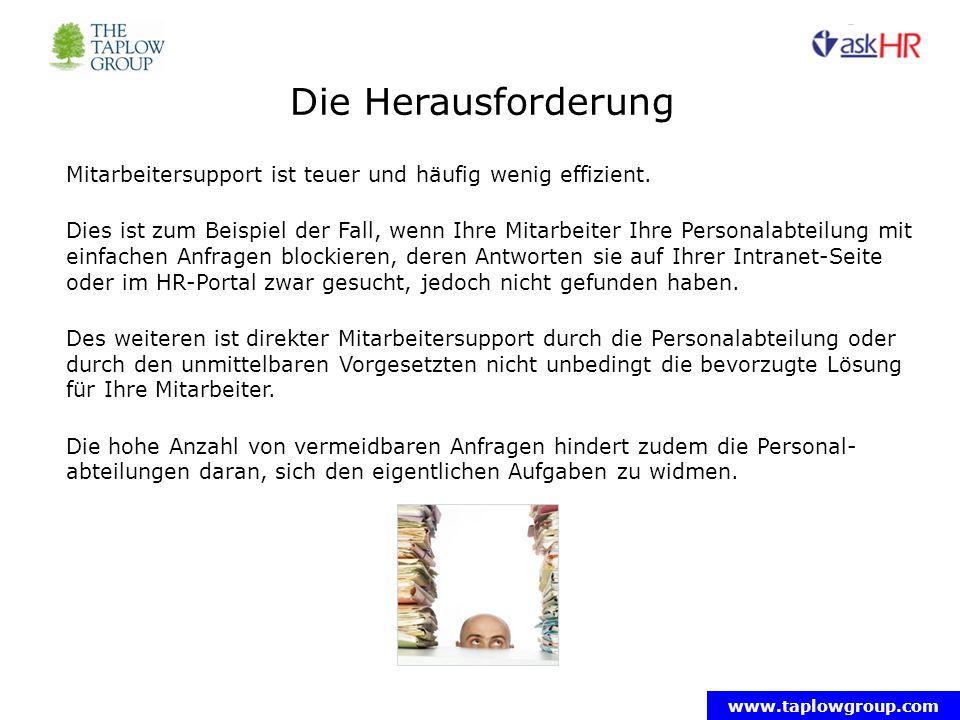 www.taplowgroup.com Wie erfolgreich ist Ihr HR-Portal.