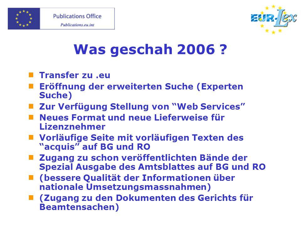 Was geschah 2006 .