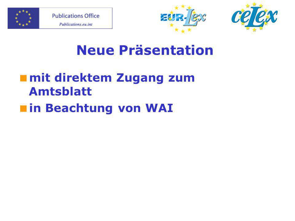 Neue Präsentation  mit direktem Zugang zum Amtsblatt  in Beachtung von WAI