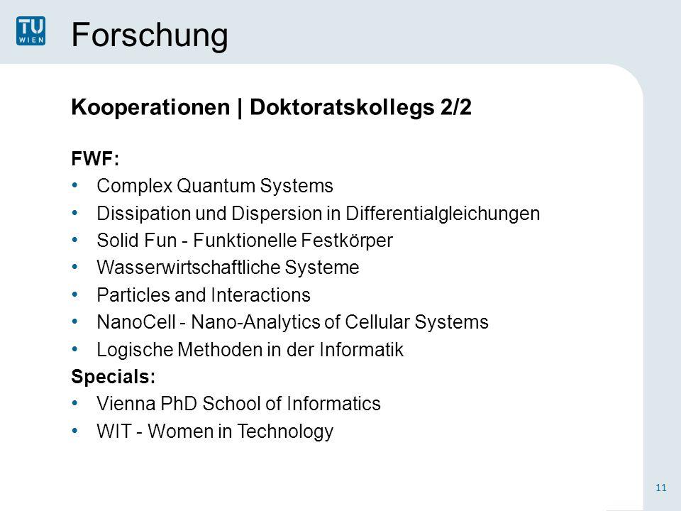 Forschung Kooperationen | Doktoratskollegs 2/2 FWF: Complex Quantum Systems Dissipation und Dispersion in Differentialgleichungen Solid Fun - Funktion