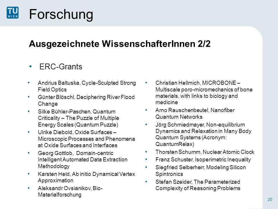 Forschung Ausgezeichnete WissenschafterInnen 2/2 ERC-Grants 20 Christian Hellmich, MICROBONE – Multiscale poro-micromechanics of bone materials, with