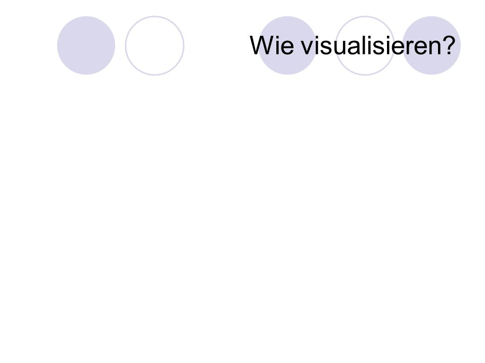 Wie visualisieren?
