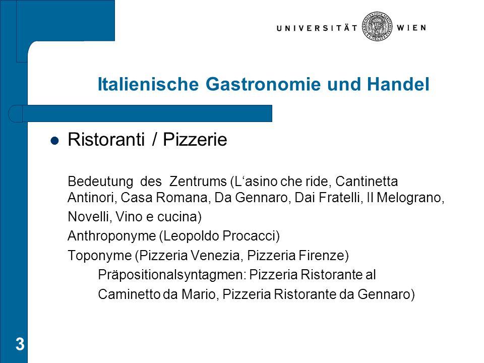 Italienische Gastronomie und Handel Ristoranti / Pizzerie Bedeutung des Zentrums (L'asino che ride, Cantinetta Antinori, Casa Romana, Da Gennaro, Dai