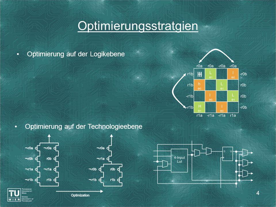 4 Optimierung auf der Logikebene Optimierungsstratgien Optimierung auf der Technologieebene lH