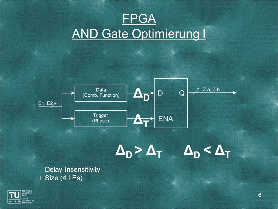 7 FPGA – AND Gate Optimierung II - Delay Insensitivity + Size (3 LEs) - Losslessness φ 1 → φ 0 ´ → φ 0, φ 0 ´ → 0φ 1 → φ 0