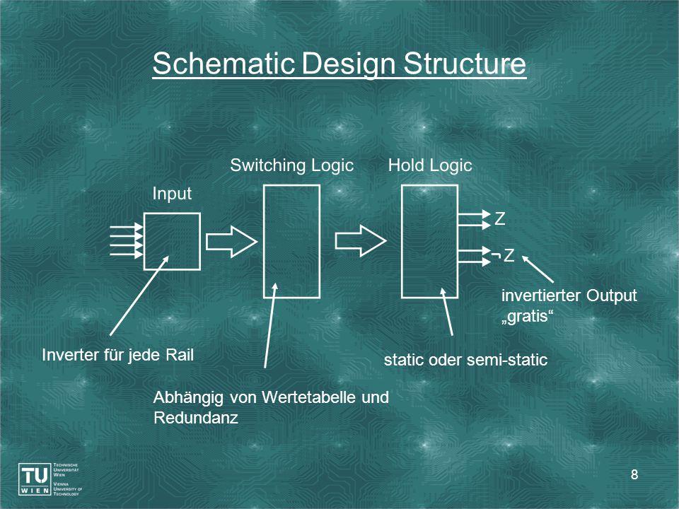 """8 Schematic Design Structure Inverter für jede Rail Abhängig von Wertetabelle und Redundanz static oder semi-static invertierter Output """"gratis"""