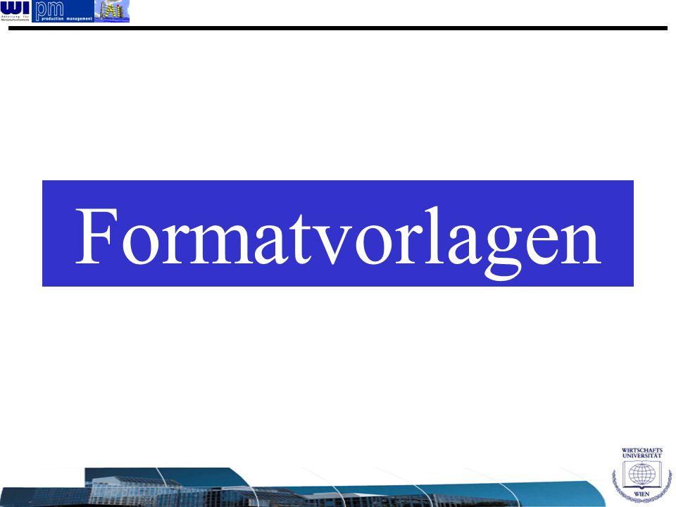 Formatvorlagen