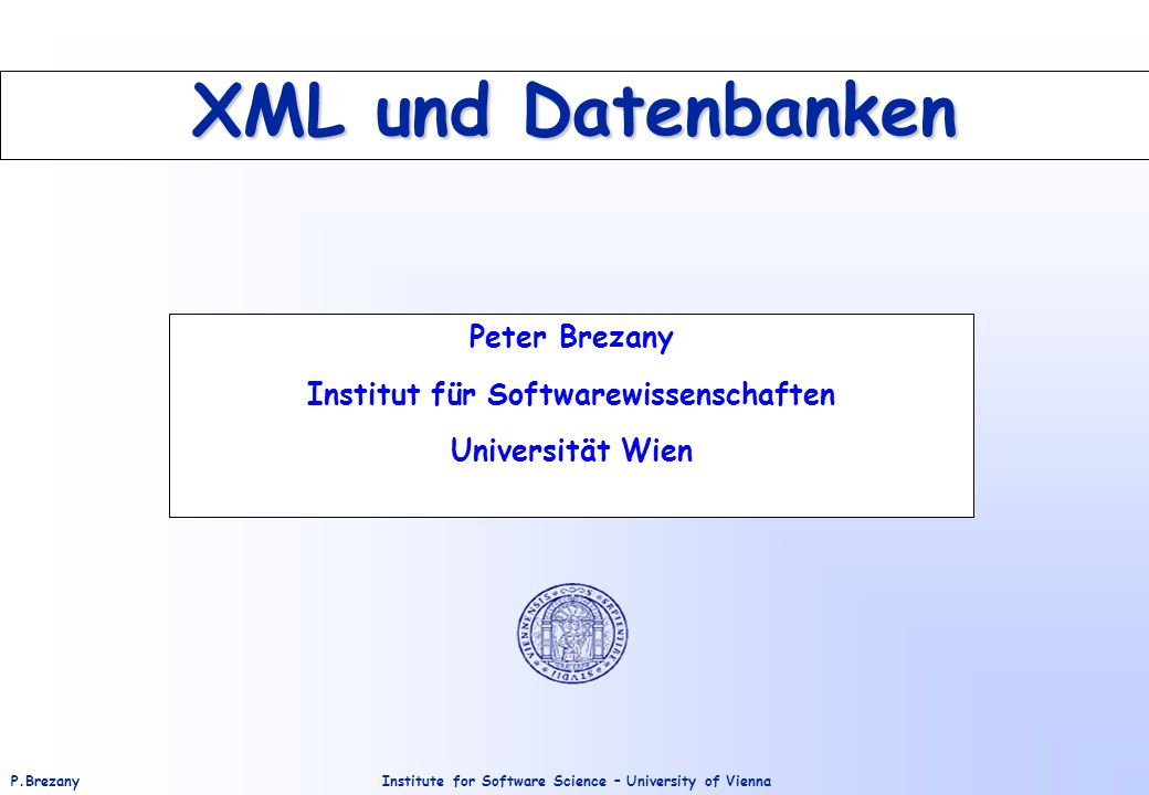 Institute for Software Science – University of ViennaP.Brezany 82 XML Block Append