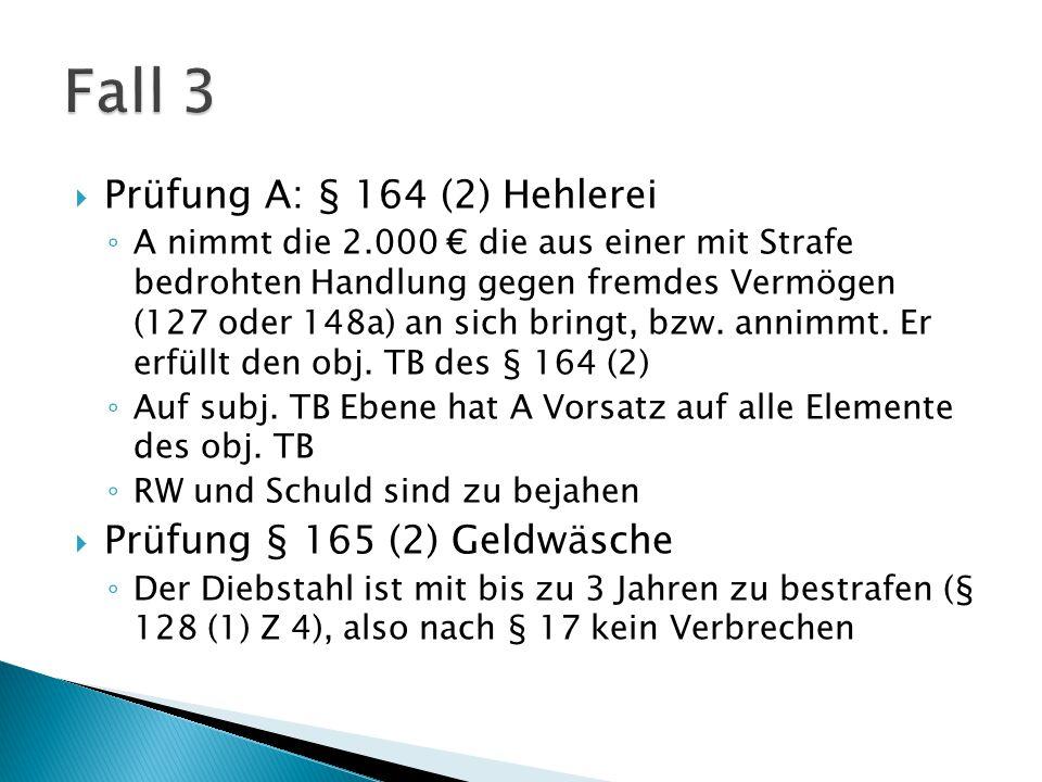  Prüfung B: §§ 15, 127 (alt.