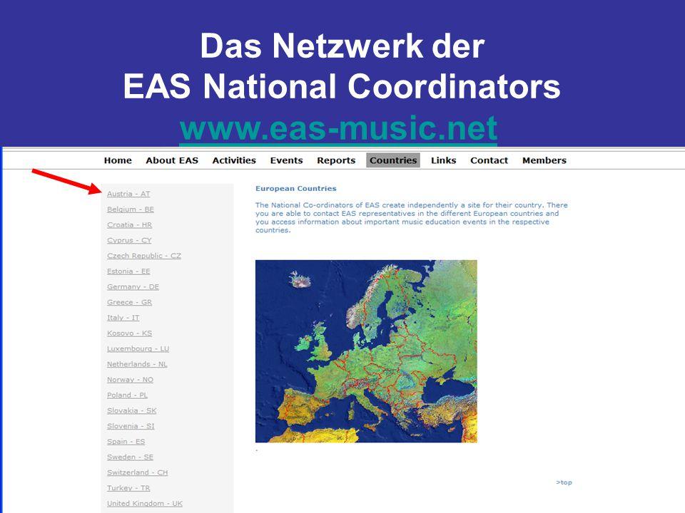Das Netzwerk der EAS National Coordinators www.eas-music.net