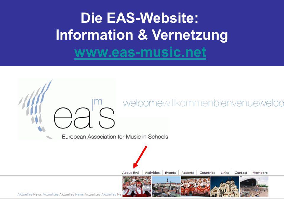 Die EAS-Website: Information & Vernetzung www.eas-music.net