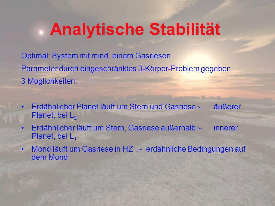 Analytische Stabilität Optimal: System mit mind.