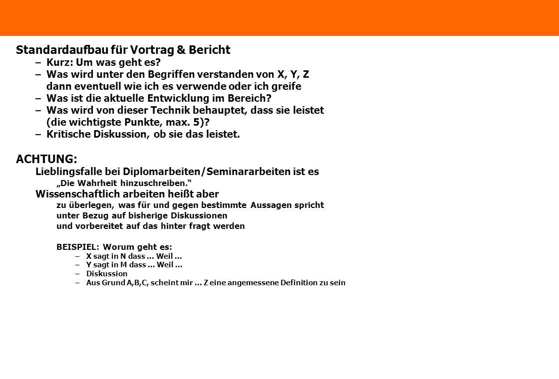 www.ximes.com Page 5 - 14-09-01 Standardaufbau für Vortrag & Bericht –Kurz: Um was geht es.