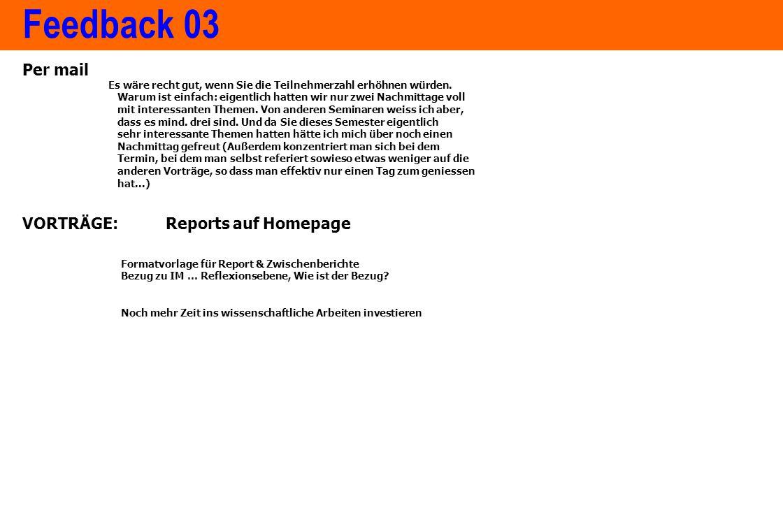 www.ximes.com Page 7 - 14-09-01 Feedback 03 Per mail Es wäre recht gut, wenn Sie die Teilnehmerzahl erhöhnen würden.
