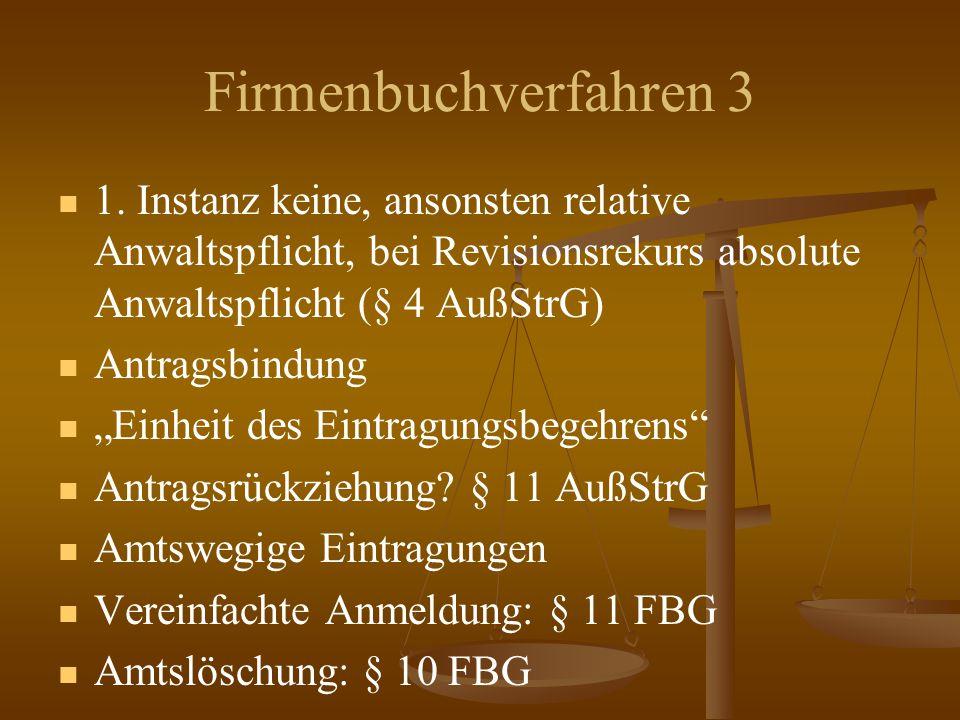 Firmenbuchverfahren 3 1.