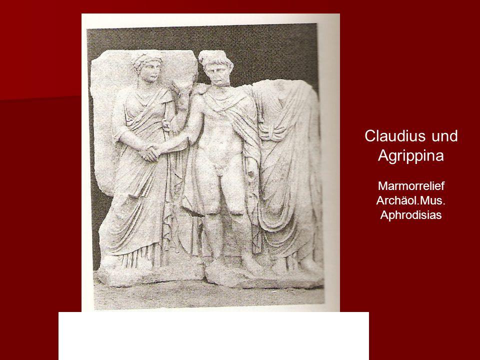 """"""" Claudius und Agrippina Marmorrelief Archäol.Mus. Aphrodisias"""