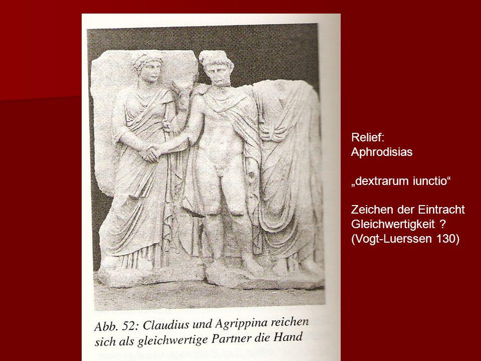 """"""" Relief: Aphrodisias """"dextrarum iunctio Zeichen der Eintracht Gleichwertigkeit ."""