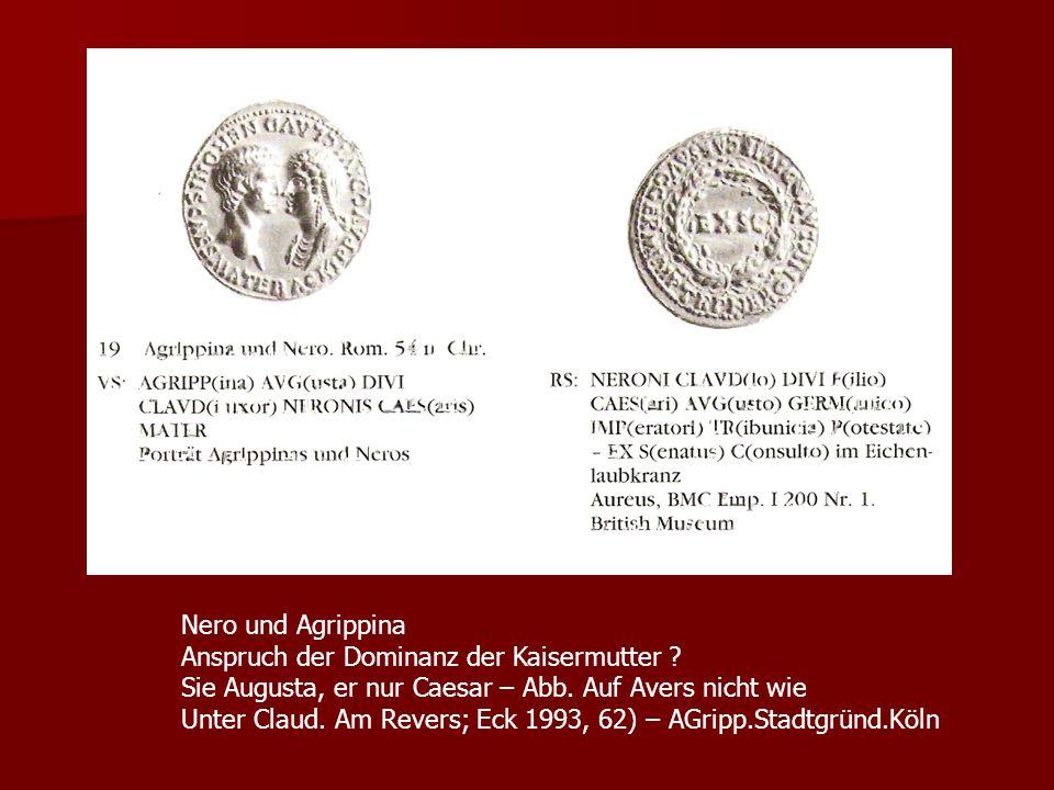 Nero und Agrippina Anspruch der Dominanz der Kaisermutter .