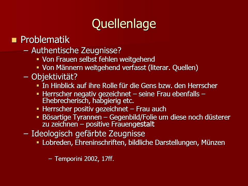Quellenlage Problematik Problematik –Authentische Zeugnisse.