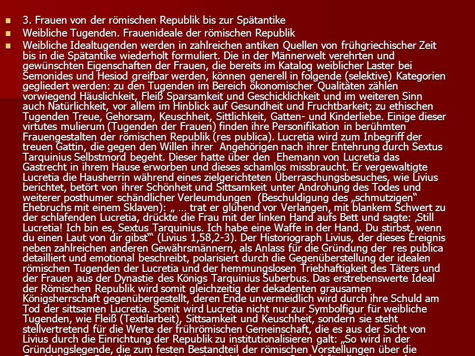 3.Frauen von der römischen Republik bis zur Spätantike 3.