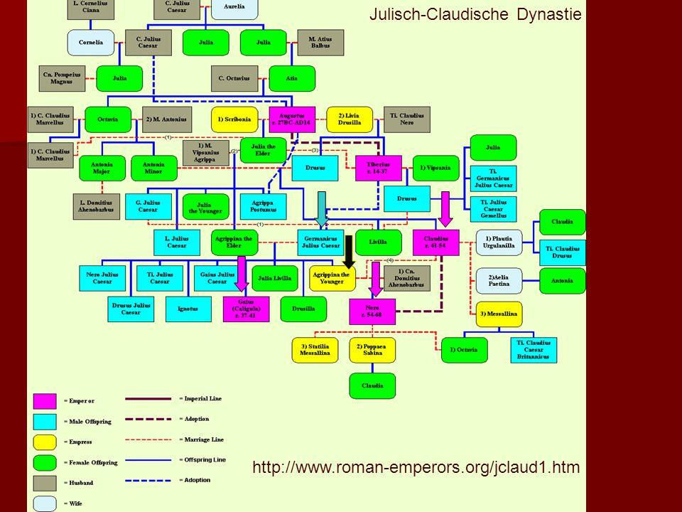 http://www.roman-emperors.org/jclaud1.htm Julisch-Claudische Dynastie