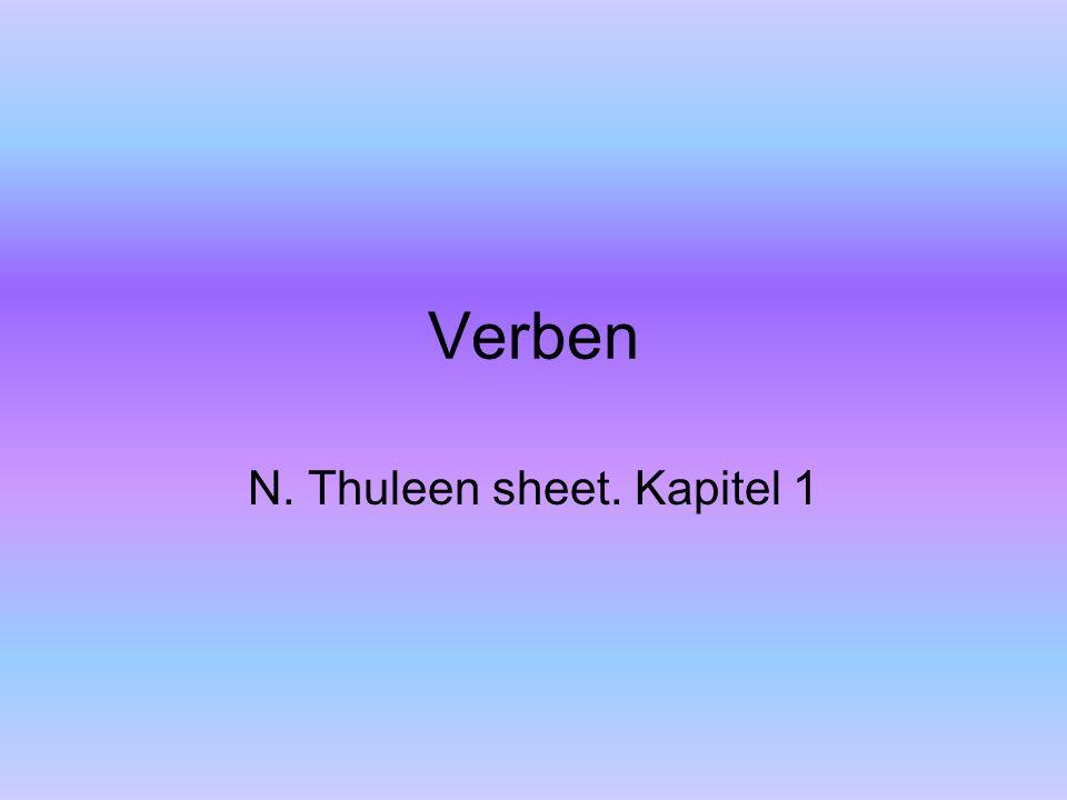 Verben N. Thuleen sheet. Kapitel 1