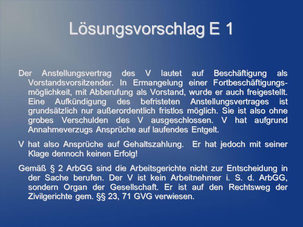 Lösungsvorschlag Gemäß § 612 Abs.2 Alt.