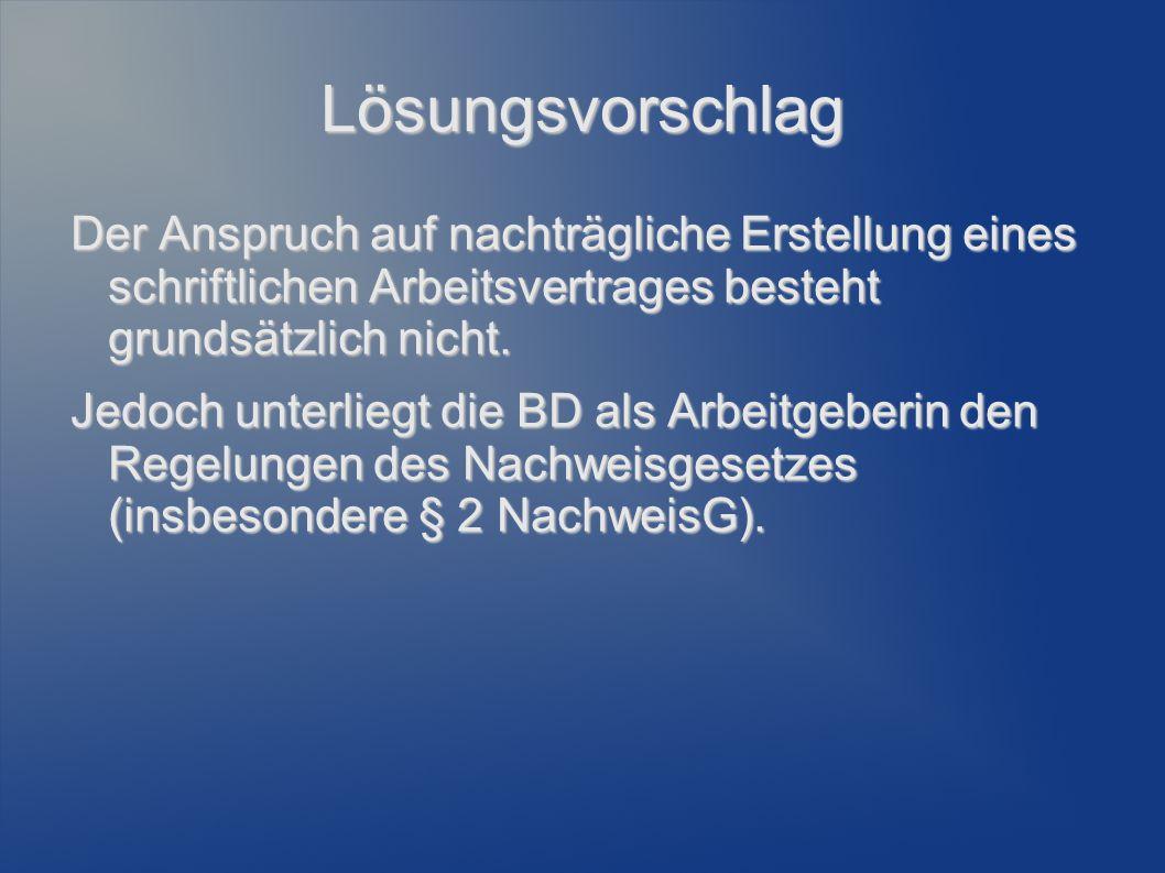 Einzelnormen (I) § 14 TzBfG...