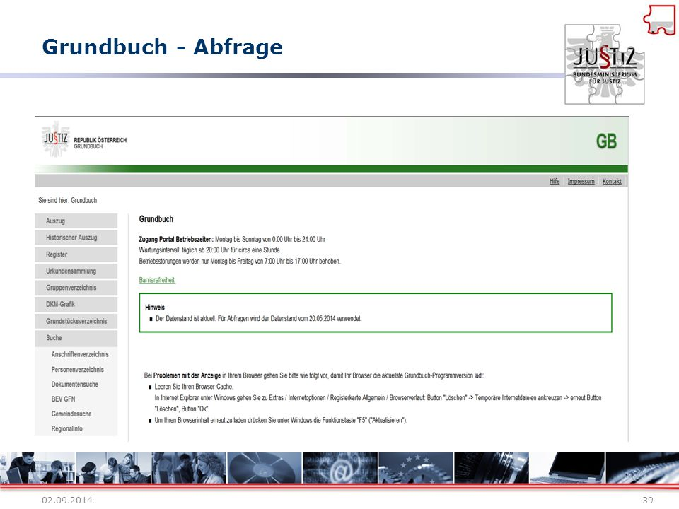 Grundbuch - Abfrage 02.09.201439