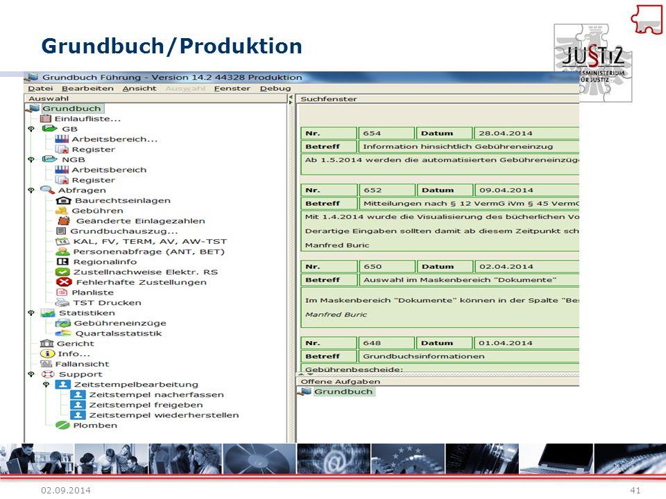 Grundbuch/Produktion 02.09.201441