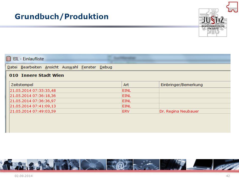Grundbuch/Produktion 02.09.201442