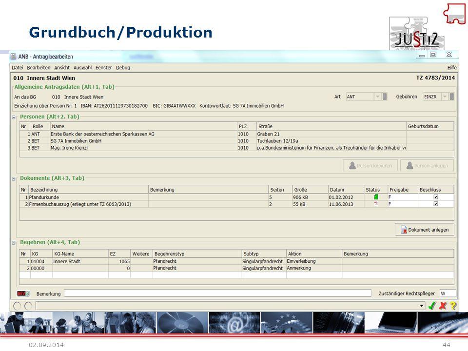Grundbuch/Produktion 02.09.201444