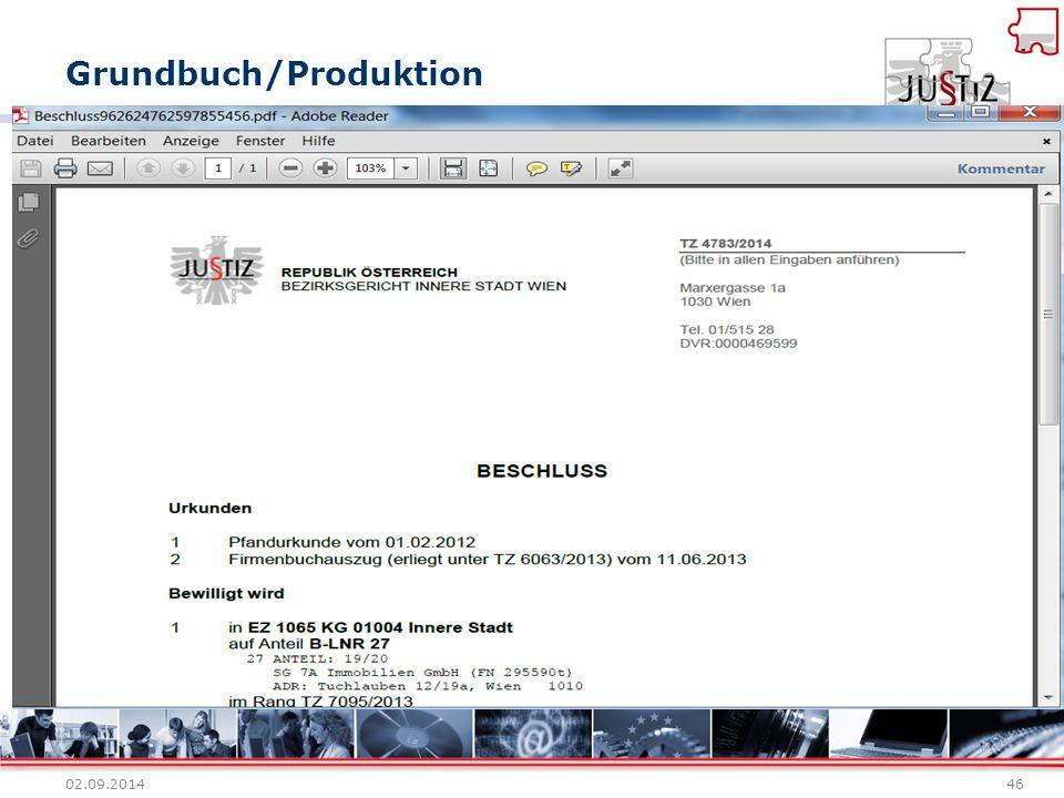Grundbuch/Produktion 02.09.201446