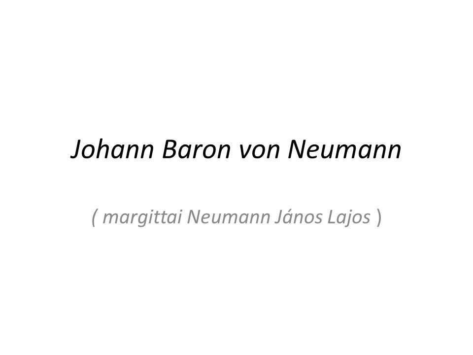 Lebenslauf -Geboren am 28.12.1903 in Budapest -absolvierte ein Studium an der Universität in Budapest -Im Alter von 25 Jahren war er Professor im Institute Advanced Study in Princeton -Er stellte im Jahre 1932 die mathematischen Grundlagen der Quantenmechanik auf -In den 40er Jahren entwickelte er die Idee des programmgesteuerten elektronischen Rechners -Johann Baron von Neumann starb am 08.02.1954 in Washington (D.C.)