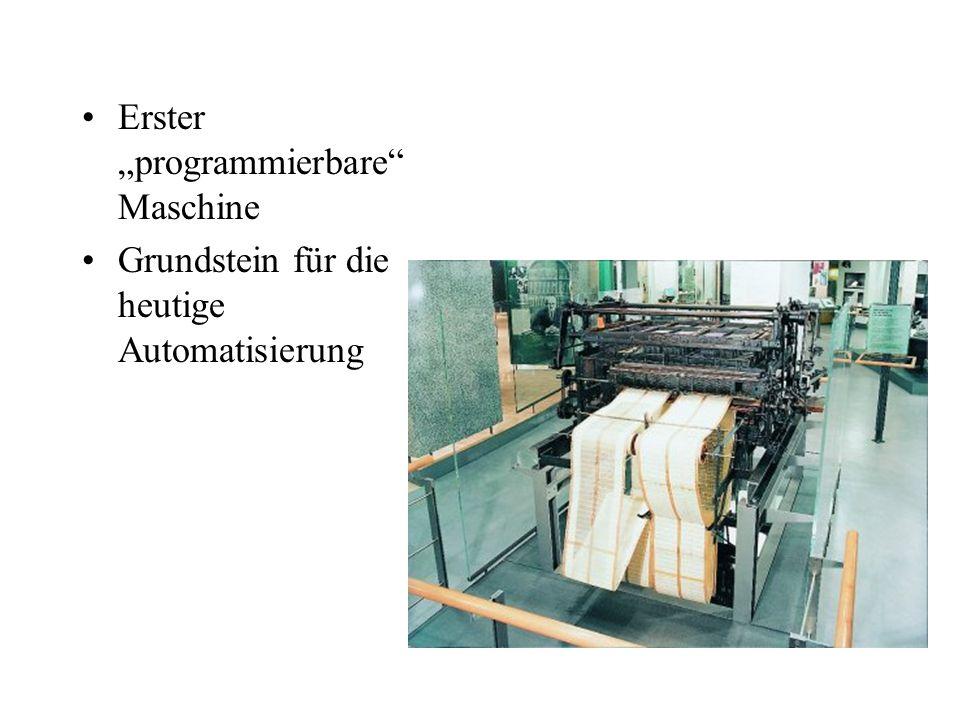 """Erster """"programmierbare"""" Maschine Grundstein für die heutige Automatisierung"""