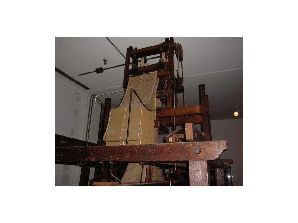 1806 Webstühle sollten eingeführt werden Wiederstand der Zünfte, welche sich durch die Automatisierung bedroht fühlten Jacquard wurde mehrmals angegriffen und vor Gericht gebracht Technik konnte sich trotzdem durchsetzten