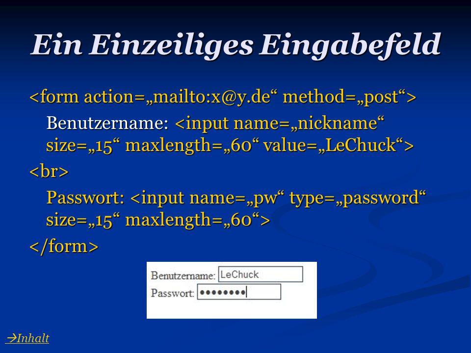 Dateien mit einem Formular verschicken </form> datei.html  Inhalt