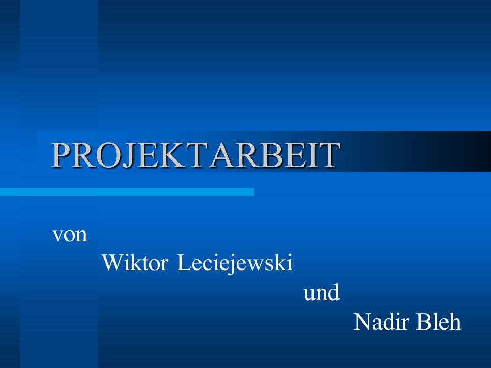 PROJEKTARBEIT von Wiktor Leciejewski und Nadir Bleh