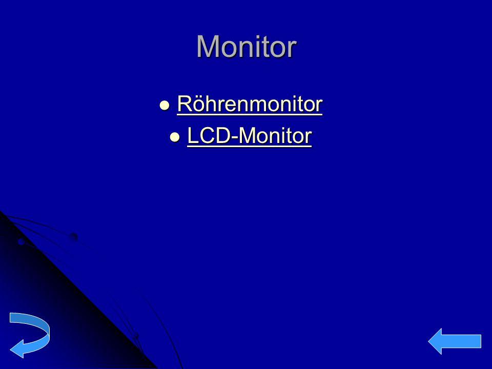 Monitor Röhrenmonitor Röhrenmonitor Röhrenmonitor LCD-Monitor LCD-Monitor LCD-Monitor