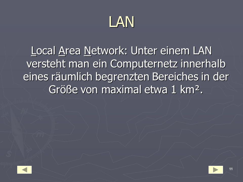 10 MAN Metropolitan Area Network: Ist ein breitbandiges Telekommunikationsnetz, dass überwiegend in ringförmiger Struktur aufgebaut ist und die wichti