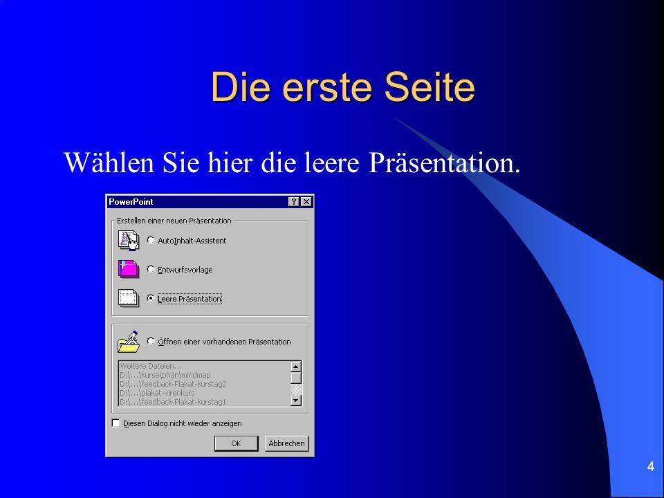 3 Themenordnung Die erste Seite Weitere Seiten Übersicht der Folien Verknüpfung der Seiten Gliederung & Inhalt Seitenübergänge Bilder integrieren Mit Diagrammen arbeiten