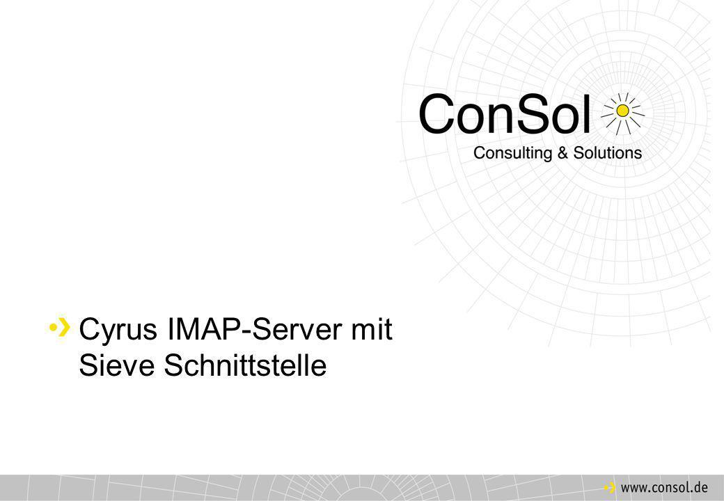 Gliederung Warum ein neuer IMAP-Server.